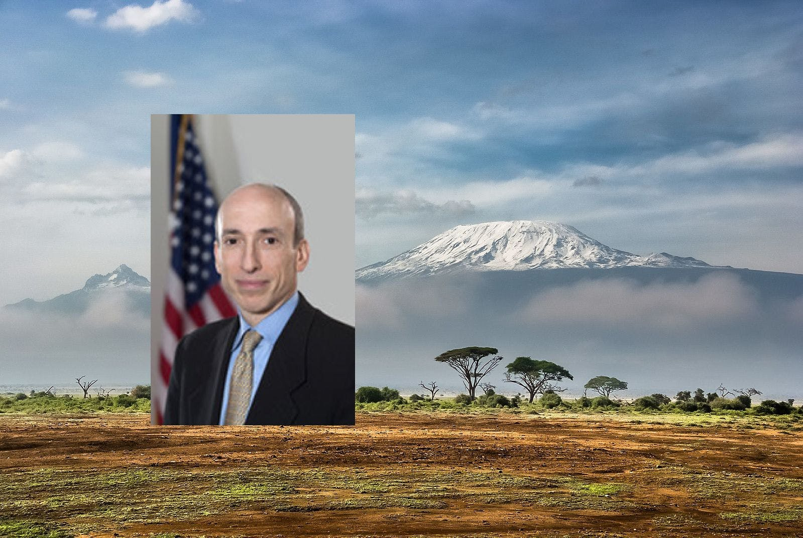 Gary Gensler beklom de Kilimajaro