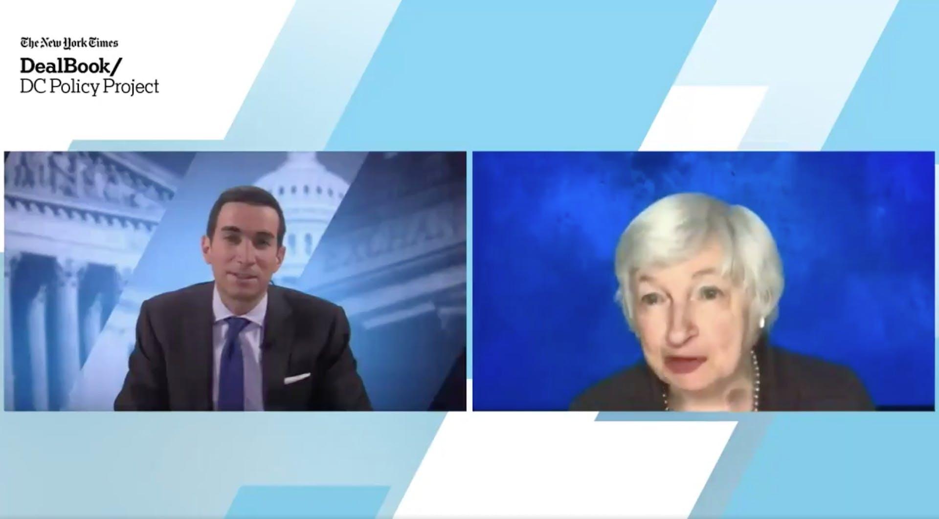 Yellen op het DealBook D.C. Policy Project