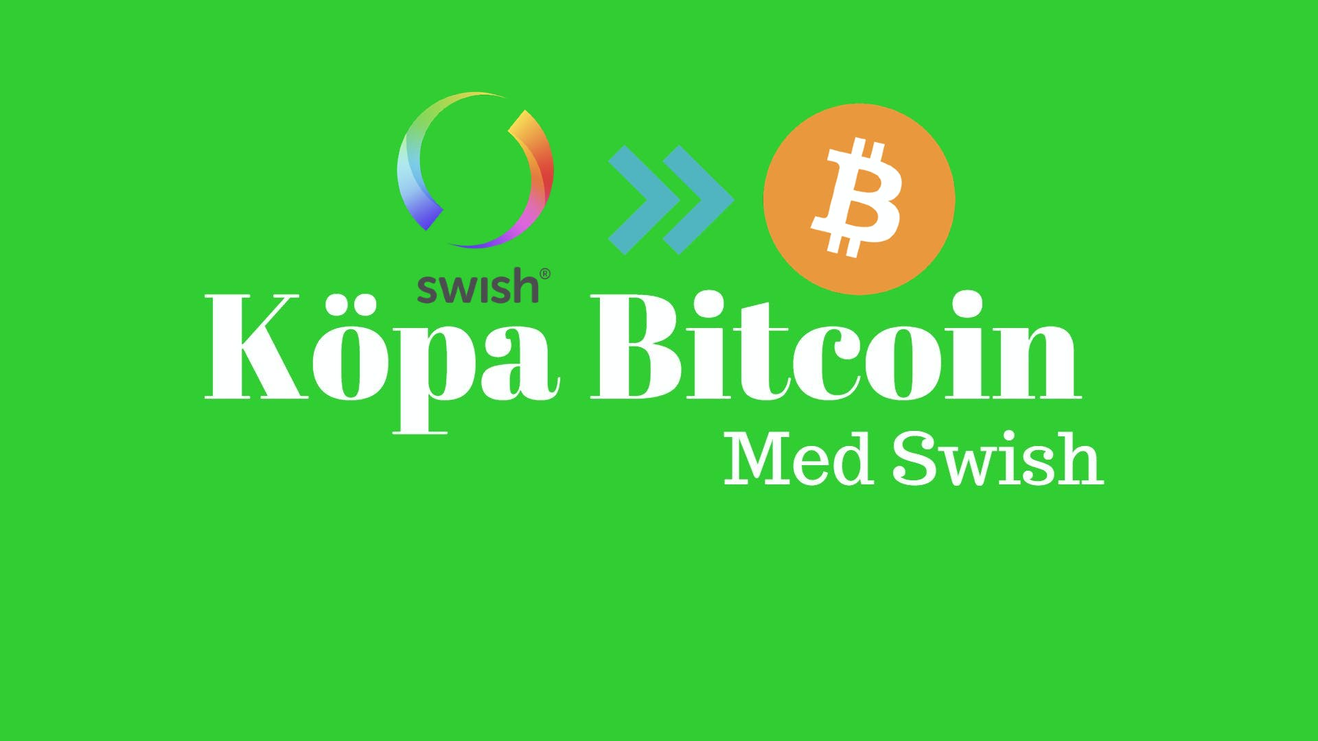 Bitcoinverket: Köpa bitcoin med swish